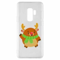 Чехол для Samsung S9+ Deer in a scarf