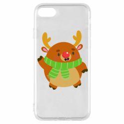 Чехол для iPhone 8 Deer in a scarf