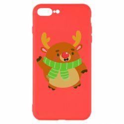 Чехол для iPhone 8 Plus Deer in a scarf