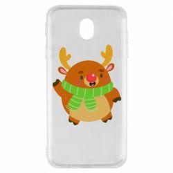 Чехол для Samsung J7 2017 Deer in a scarf
