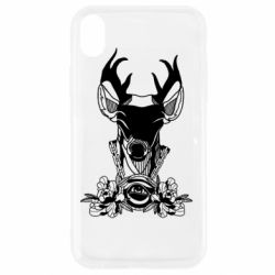 Чохол для iPhone XR Deer in chains with flowers