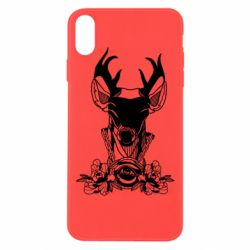 Чохол для iPhone Xs Max Deer in chains with flowers