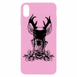 Чохол для iPhone X/Xs Deer in chains with flowers