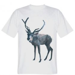 Футболка Deer polygons art