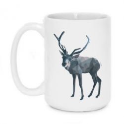 Купить Кружка 420ml Deer polygons art, FatLine