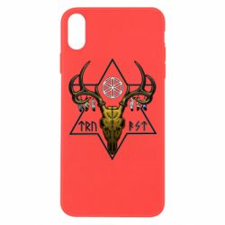 Чехол для iPhone Xs Max Deer skull and five-pointed star
