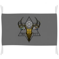 Флаг Deer skull and five-pointed star
