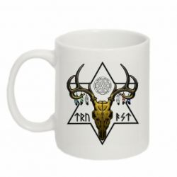 Кружка 320ml Deer skull and five-pointed star