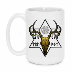 Кружка 420ml Deer skull and five-pointed star