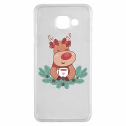 Чехол для Samsung A3 2016 Deer tea party girl