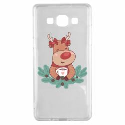 Чехол для Samsung A5 2015 Deer tea party girl