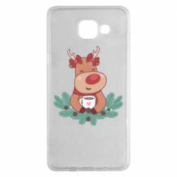 Чехол для Samsung A5 2016 Deer tea party girl