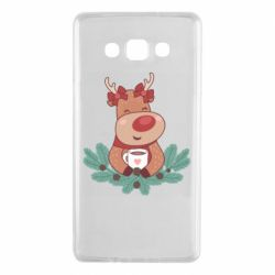 Чехол для Samsung A7 2015 Deer tea party girl