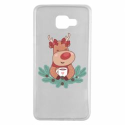 Чехол для Samsung A7 2016 Deer tea party girl