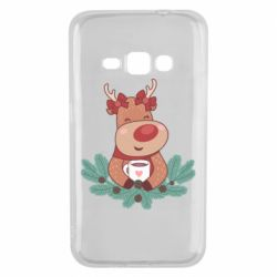Чехол для Samsung J1 2016 Deer tea party girl