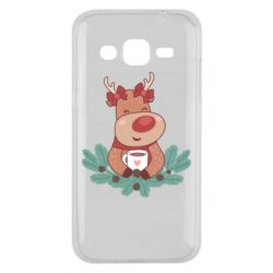Чехол для Samsung J2 2015 Deer tea party girl