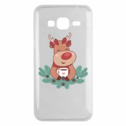 Чехол для Samsung J3 2016 Deer tea party girl