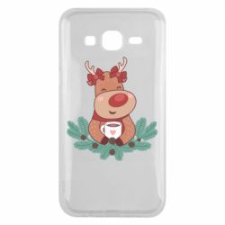 Чехол для Samsung J5 2015 Deer tea party girl