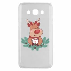 Чехол для Samsung J5 2016 Deer tea party girl