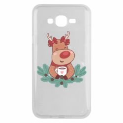 Чехол для Samsung J7 2015 Deer tea party girl