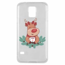 Чехол для Samsung S5 Deer tea party girl