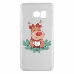 Чехол для Samsung S6 EDGE Deer tea party girl