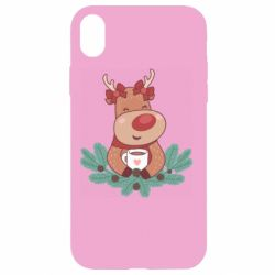 Чехол для iPhone XR Deer tea party girl