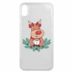Чехол для iPhone Xs Max Deer tea party girl