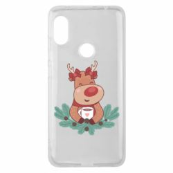 Чехол для Xiaomi Redmi Note 6 Pro Deer tea party girl