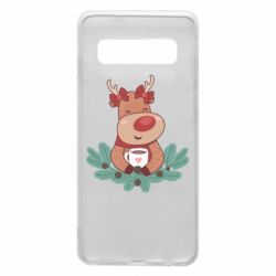 Чехол для Samsung S10 Deer tea party girl