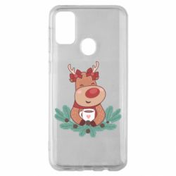 Чехол для Samsung M30s Deer tea party girl