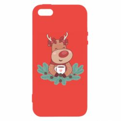Чехол для iPhone5/5S/SE Deer tea party girl