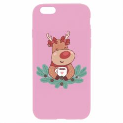 Чехол для iPhone 6/6S Deer tea party girl