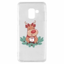 Чехол для Samsung A8 2018 Deer tea party girl