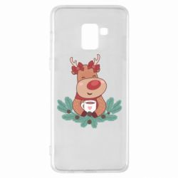 Чехол для Samsung A8+ 2018 Deer tea party girl