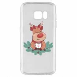 Чехол для Samsung S7 Deer tea party girl