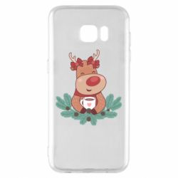 Чехол для Samsung S7 EDGE Deer tea party girl