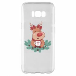 Чехол для Samsung S8+ Deer tea party girl