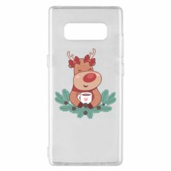Чехол для Samsung Note 8 Deer tea party girl
