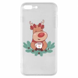 Чехол для iPhone 8 Plus Deer tea party girl