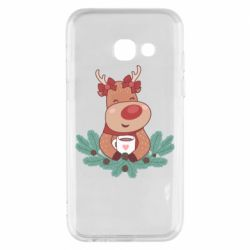 Чехол для Samsung A3 2017 Deer tea party girl