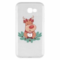 Чехол для Samsung A7 2017 Deer tea party girl