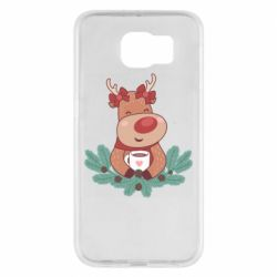 Чехол для Samsung S6 Deer tea party girl
