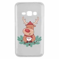 Чехол для Samsung J1 2016 Deer tea party