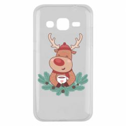 Чехол для Samsung J2 2015 Deer tea party
