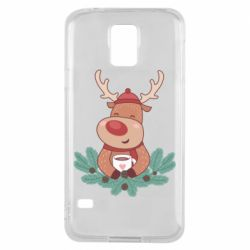 Чехол для Samsung S5 Deer tea party