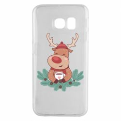 Чехол для Samsung S6 EDGE Deer tea party