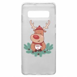 Чехол для Samsung S10+ Deer tea party