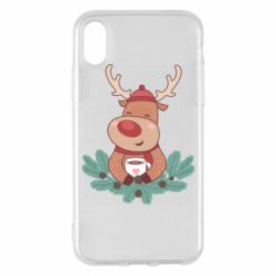 Чехол для iPhone X/Xs Deer tea party