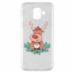 Чехол для Samsung A6 2018 Deer tea party